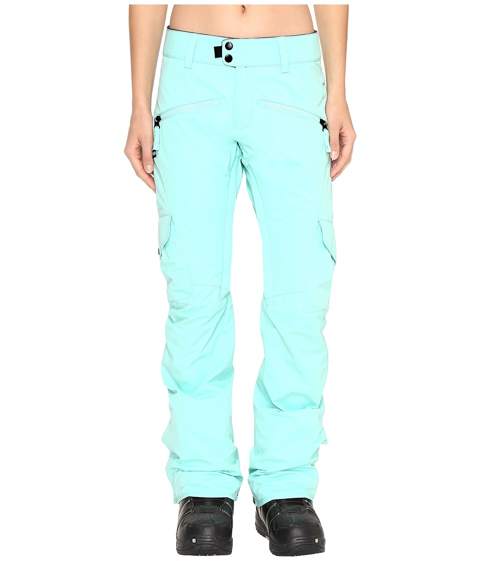 686 Authentic Mistress Insulated Cargo Pants (Dusty Aqua) Women
