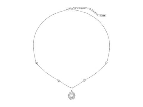 Nina CZ Cluster Pendant Necklace - Palladium/CZ
