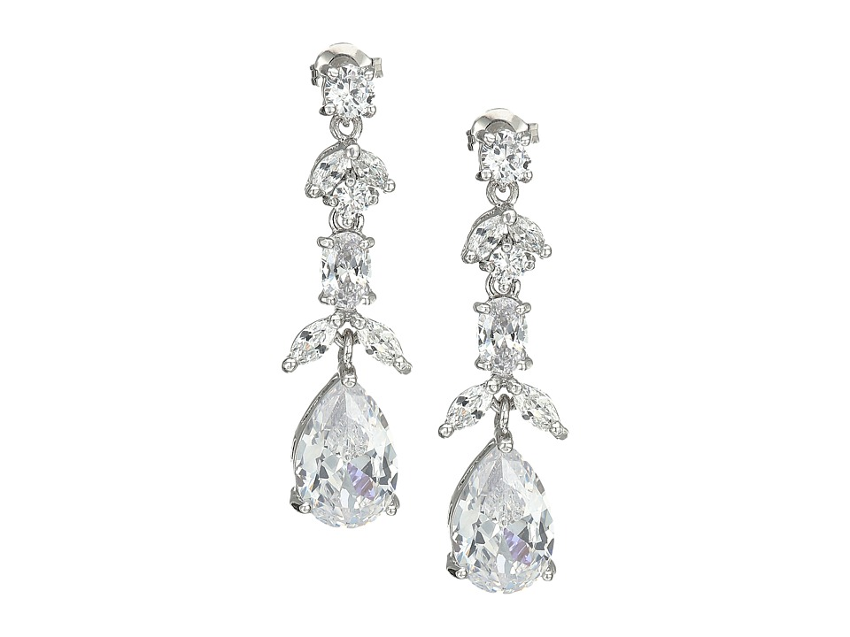Nina - Daria Drop Earrings (Rhodium/CZ) Jewelry Sets