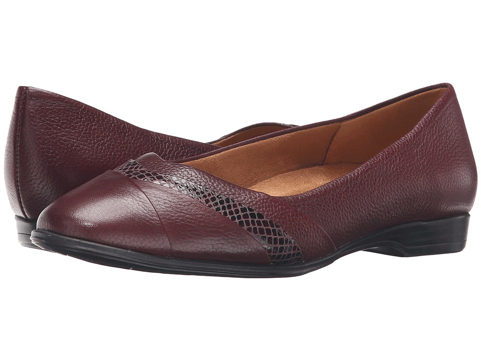 Naturalizer - Jaye (Classic Cordovan Leather/Printed Snake) Women