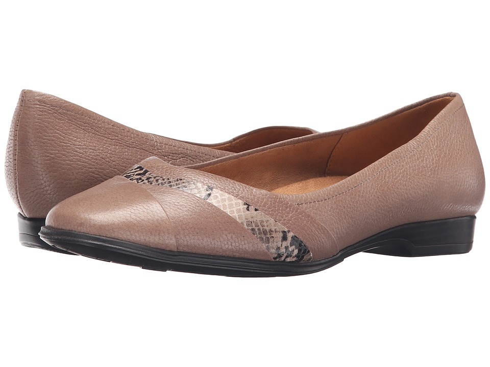 Naturalizer - Jaye (Dover Taupe Leather/Printed Snake) Women