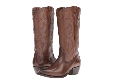 Frye Shane Embroidered Tall - Whiskey Smooth Veg Calf