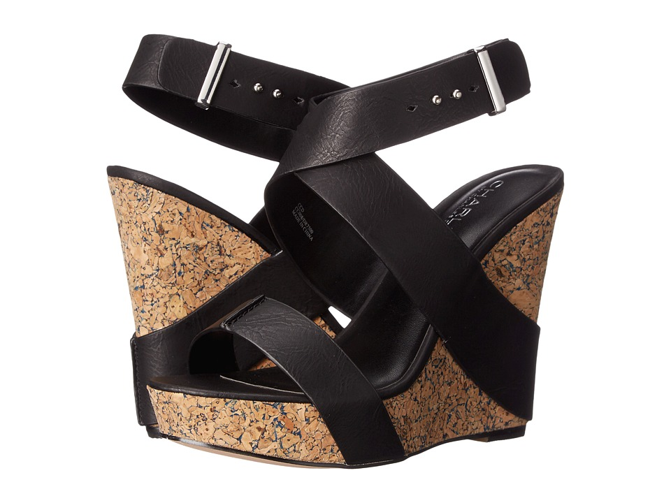 Charles by Charles David Arlington Black Tumbled Womens Sandals