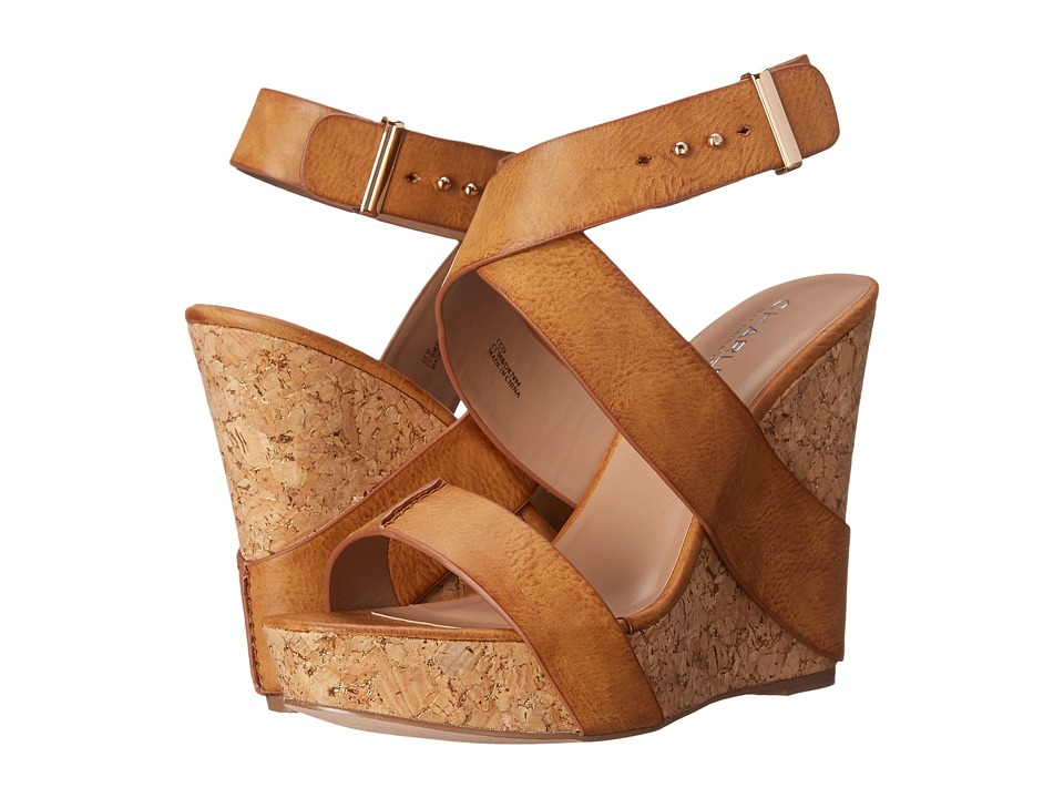 Charles by Charles David Arlington Camel Tumbled Womens Sandals