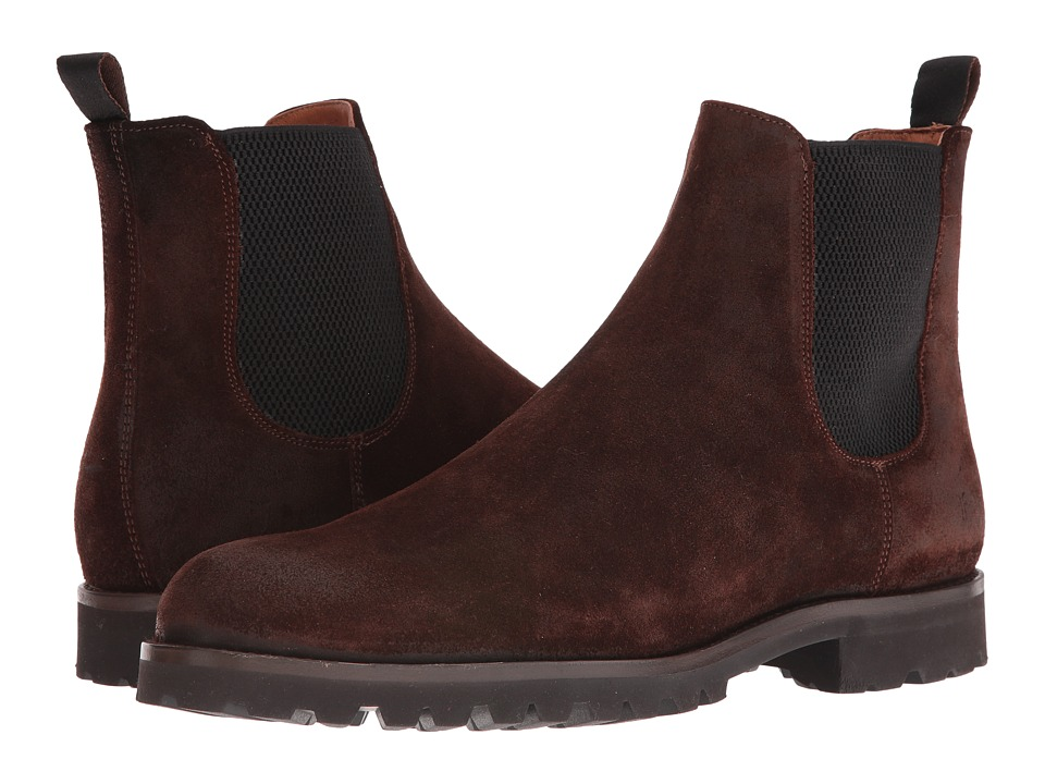 Frye Edwin Chelsea (Dark Brown Weatherproof Suede) Men