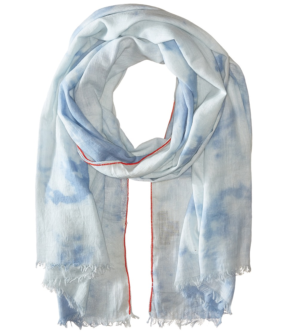 Steve Madden Tie Dye Denim Day Wrap Denim Scarves