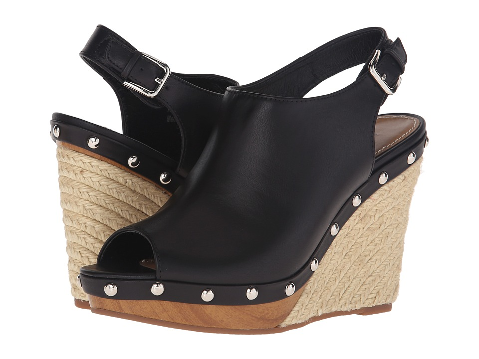 VOLATILE Wilden Black Womens Wedge Shoes