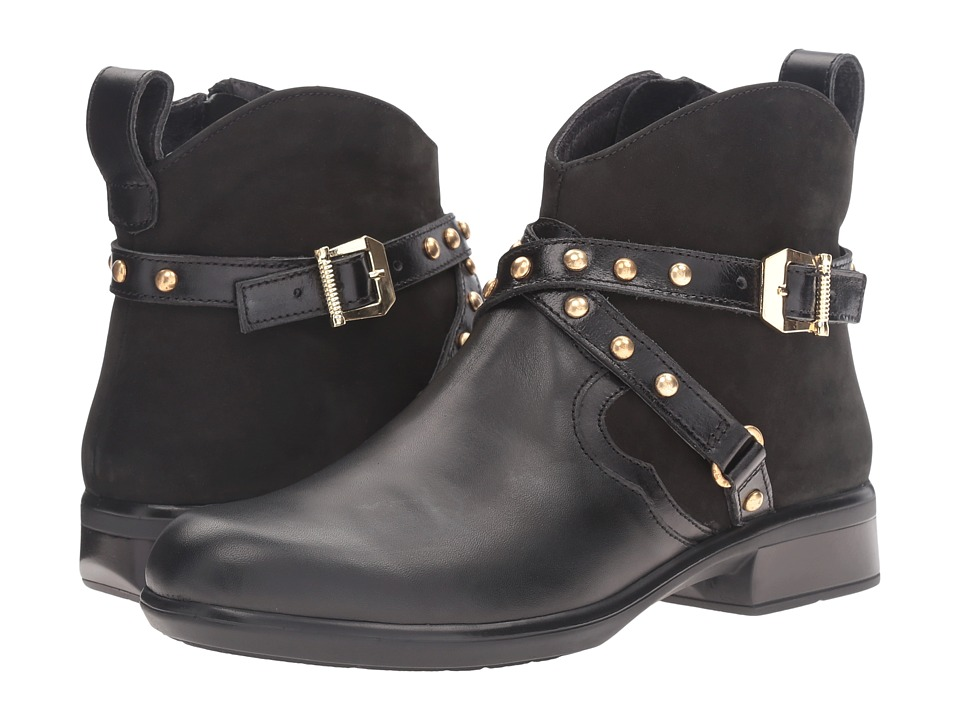 Naot Footwear Taku (Black Raven Leather/Black Velvet Nubuck/Black Madras Leather) Women