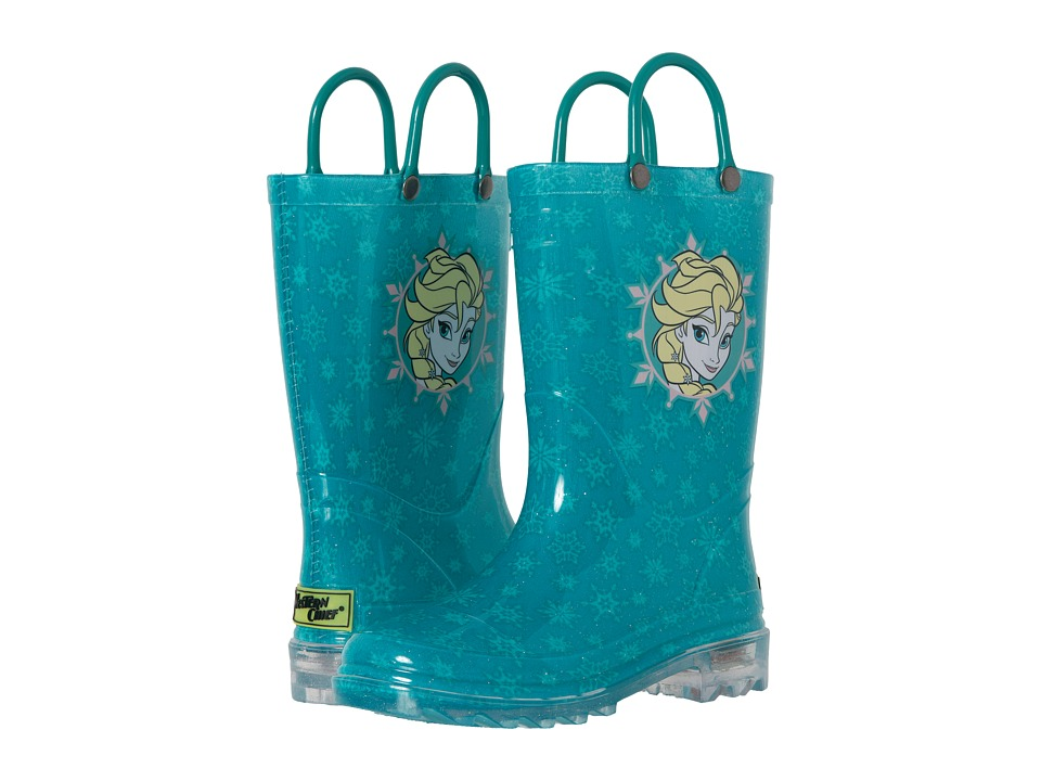 Western Chief Kids Frozen Icy Elsa Lighted (Toddler/Little Kid) (Teal) Girls Shoes