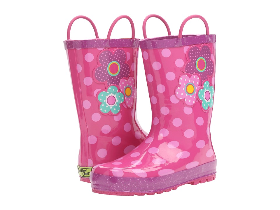Western Chief Kids Flower Cutie Rain Boot (Toddler/Little Kid/Big Kid) (Pink) Girls Shoes
