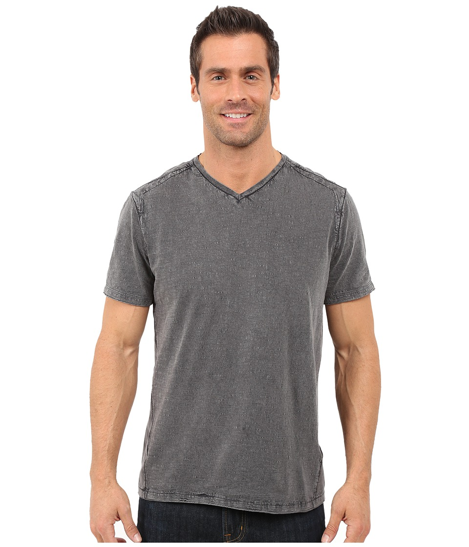 Calvin Klein Jeans - Acid Wash Jersey Slub V-Neck T-Shirt (Smoked Pearl) Men