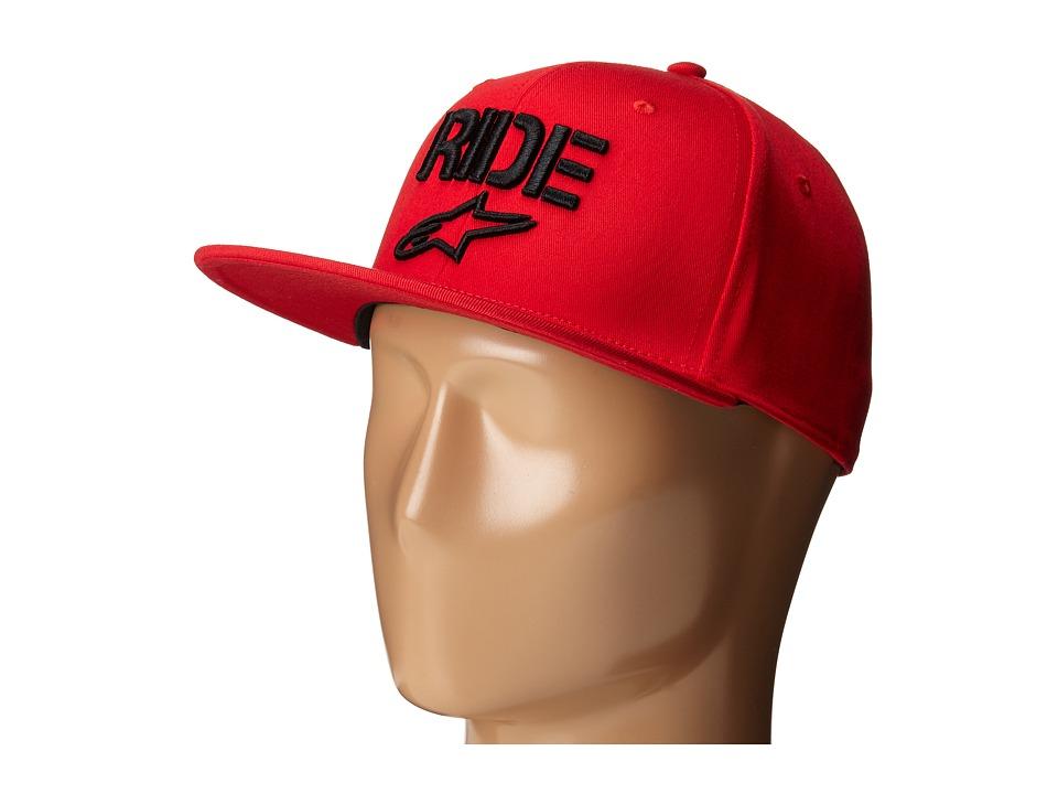 Alpinestars Ride Flat Hat Red Caps