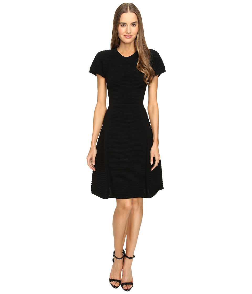 DSQUARED2 Short Sleeve A Line Dress (Black) Women