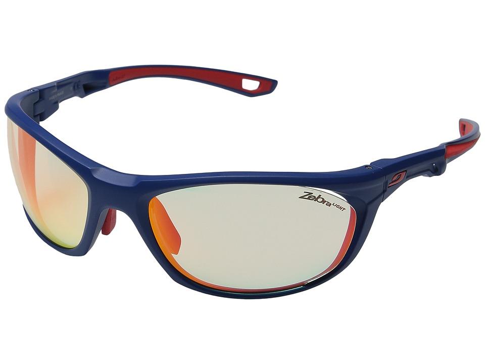 JULBO Eyewear - Race 2.0 (Matte Blue/Red With Zebra Light...