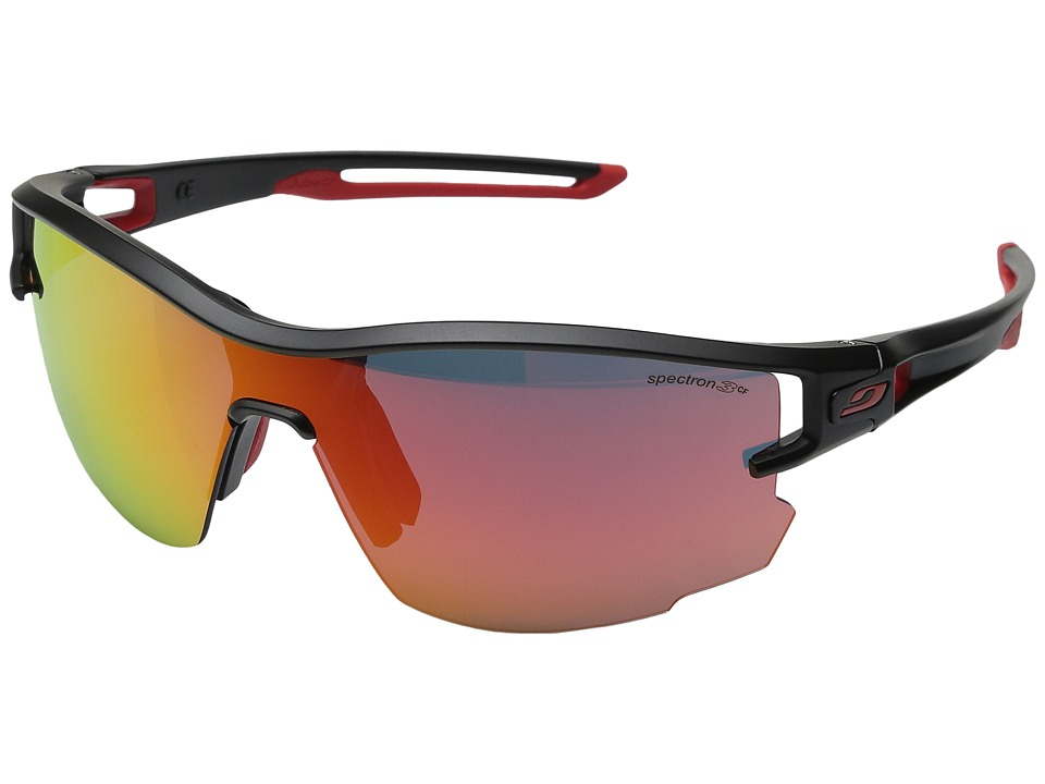 Image of Julbo Eyewear - Aero (Black/Red with Zebra Light Photochromic Lens) Sport Sunglasses