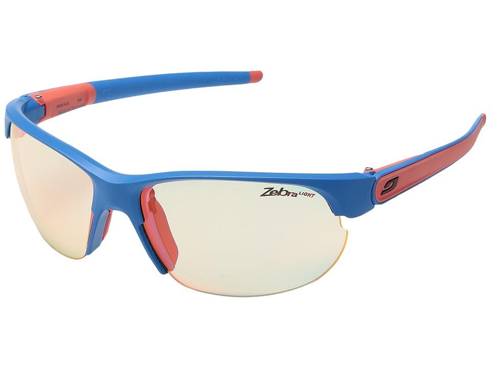 JULBO Eyewear - Breeze (Matte Blue/Coral with Zebra Light...