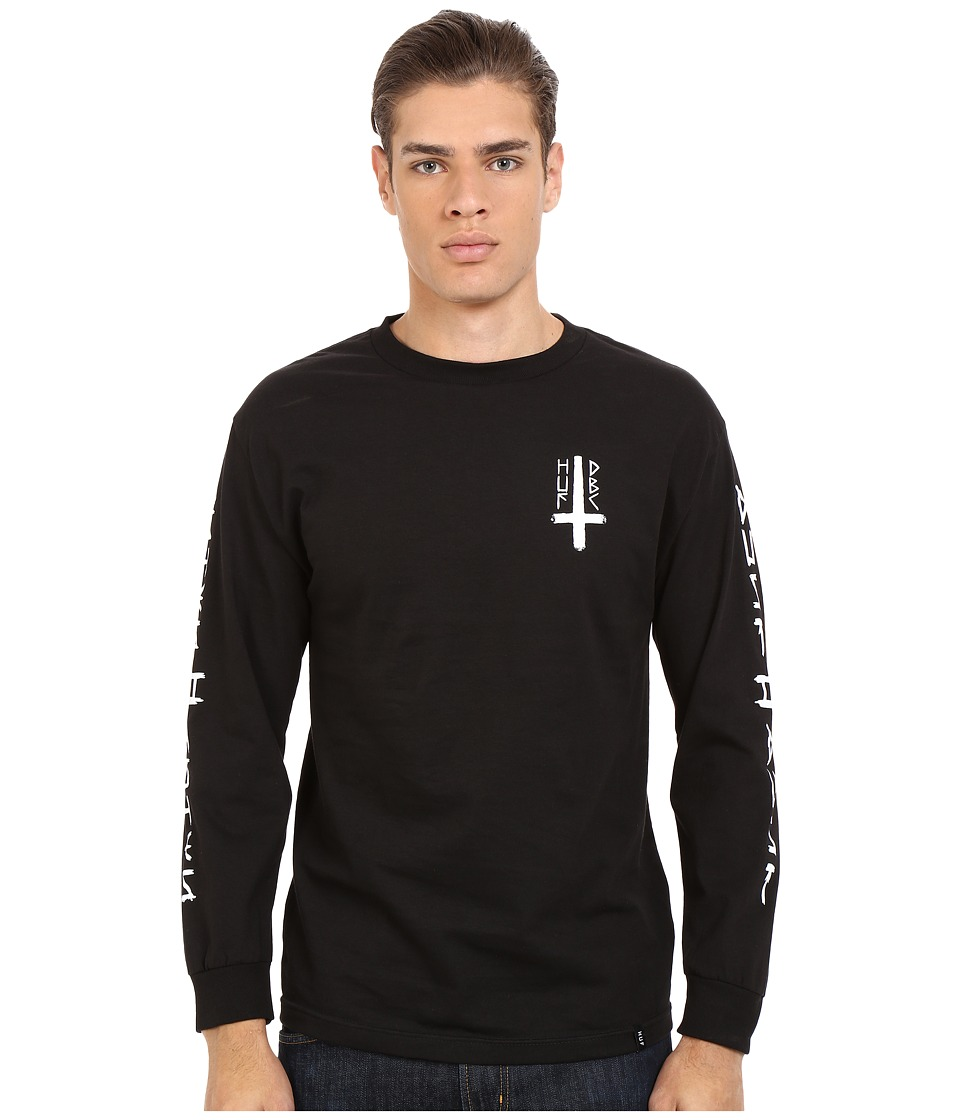 HUF Ashes To Ashes Long Sleeve Tee Black Mens T Shirt