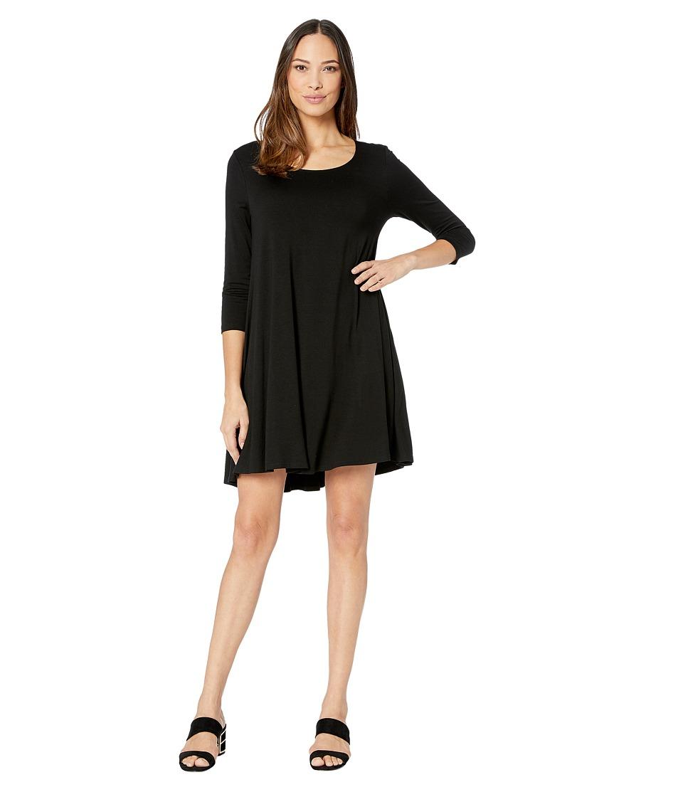 Karen Kane 3/4 Sleeve Maggie Trapeze Dress (Black) Women'...