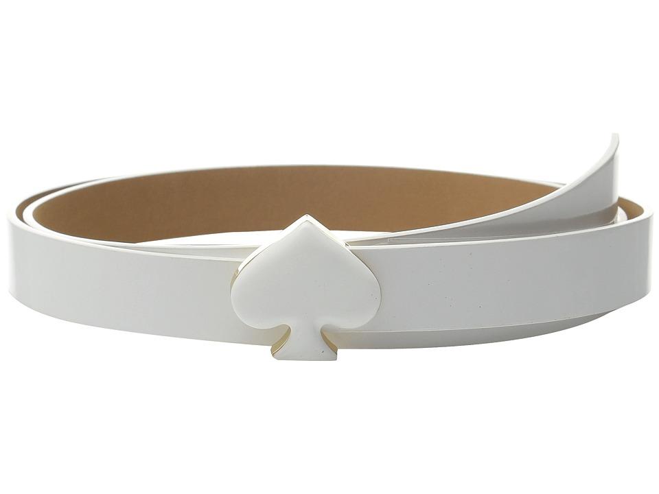 Kate Spade New York 20mm Spade Buckle Belt Fresh White Womens Belts