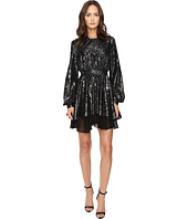 Just Cavalli - Kaliedo Tigers Metallic Flock Long Sleeve Dress