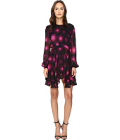 Just Cavalli - Military Stars Print Long Sleeve Dress Tiered Skirt