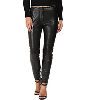 Just Cavalli - Leather Leggings with Stitch Detail