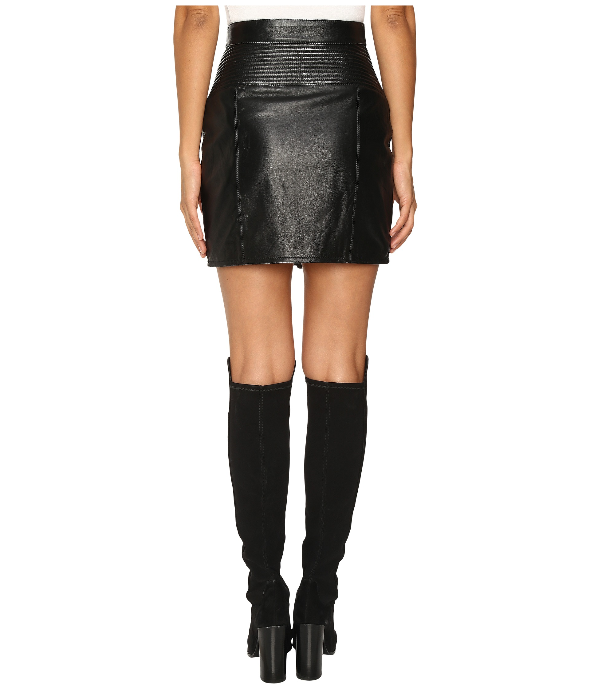 Just Cavalli Leather Mini Skirt