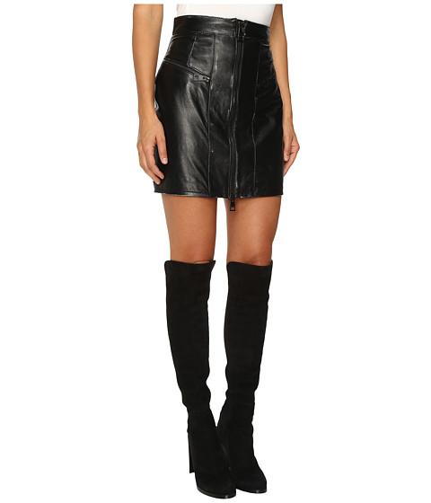 Just Cavalli Leather Mini Skirt w/ Metallic Finish at 6pm.com