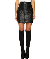 Just Cavalli - Leather Mini Skirt w/ Metallic Finish
