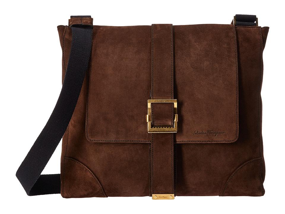 Salvatore Ferragamo Triumph Suede Bag (Visone) Briefcase Bags