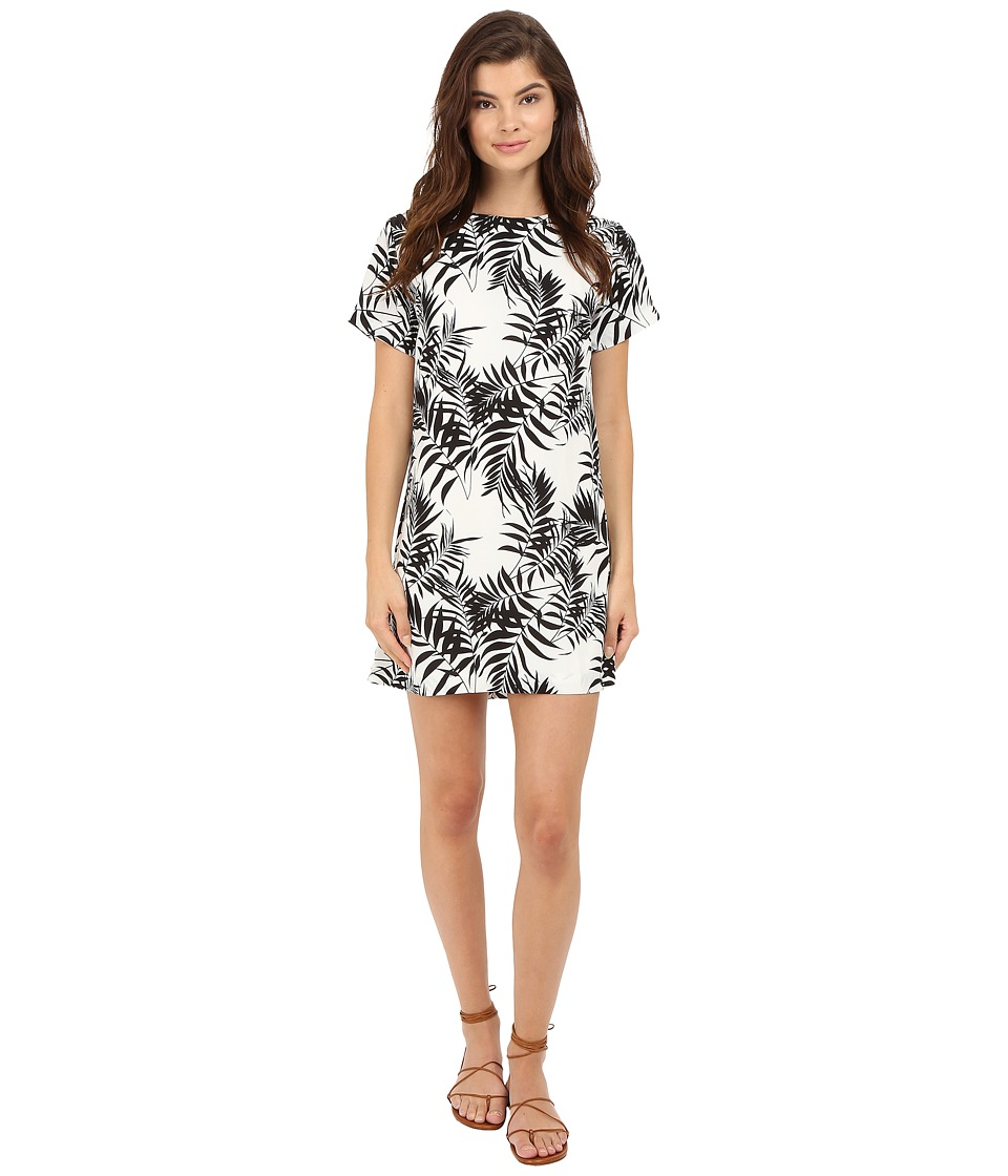 Lucy Love Charlotte Shift Palm Leaf Womens Dress