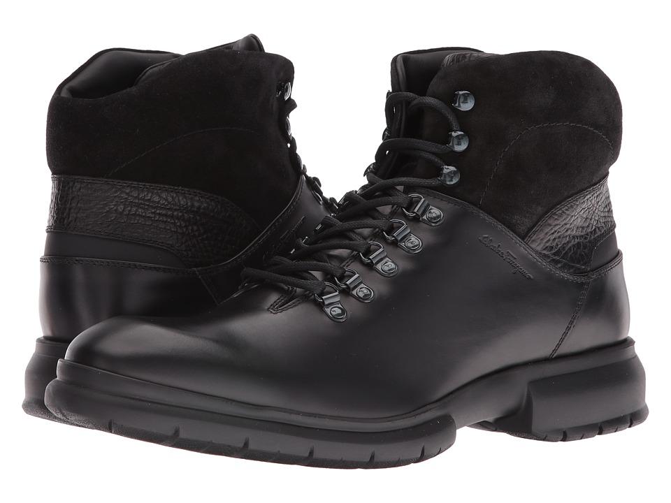 Salvatore Ferragamo Grey 3 Boot (Black) Men