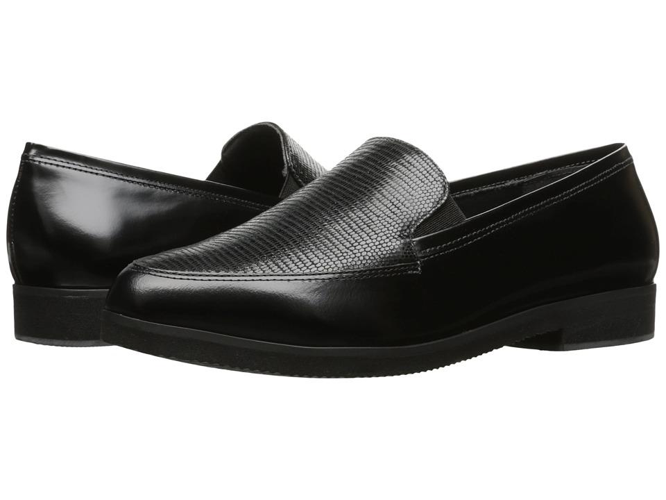 Walking Cradles - Buckley (Black Box Calf/Black Patent Lizard) Women
