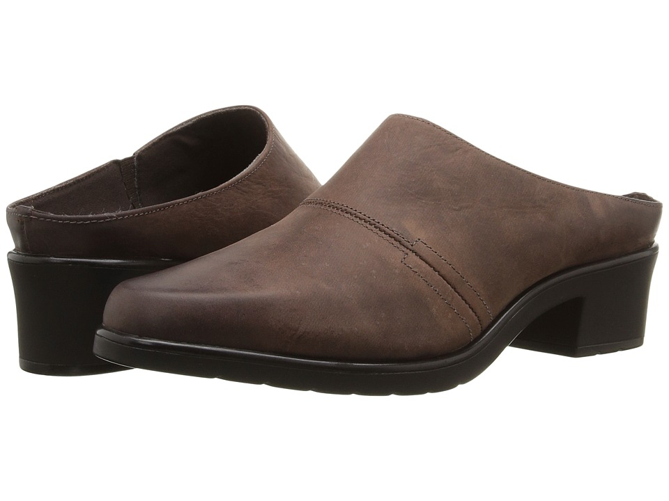 Walking Cradles Caden (Brown Distressed Leather) Women's Clogs