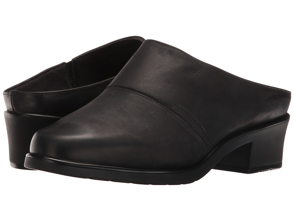 Walking Cradles Caden (Black Distressed Leather) Women's Clogs