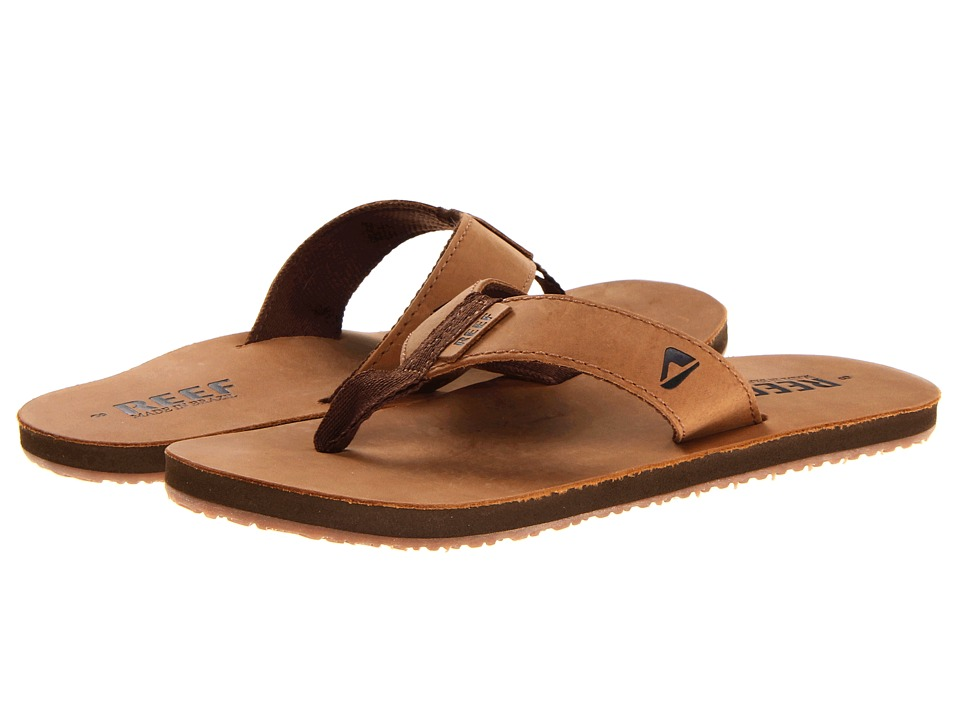 Reef - Reef Leather Smoothy (Bronze/Brown) Men's Sandals