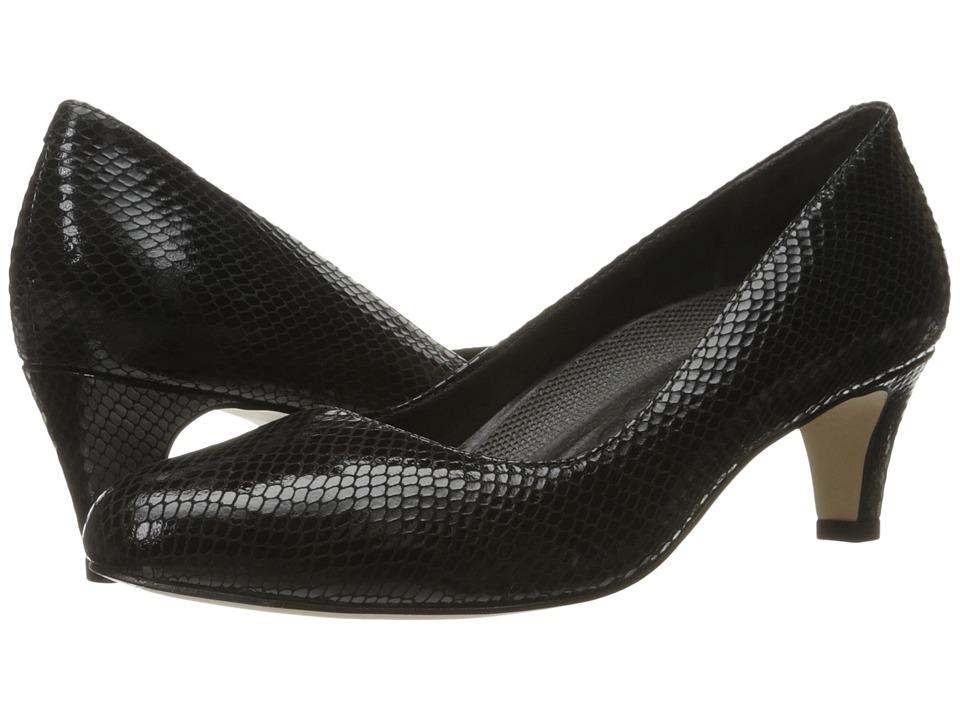 Walking Cradles Joy (Black Patent Snake) Women's Shoes