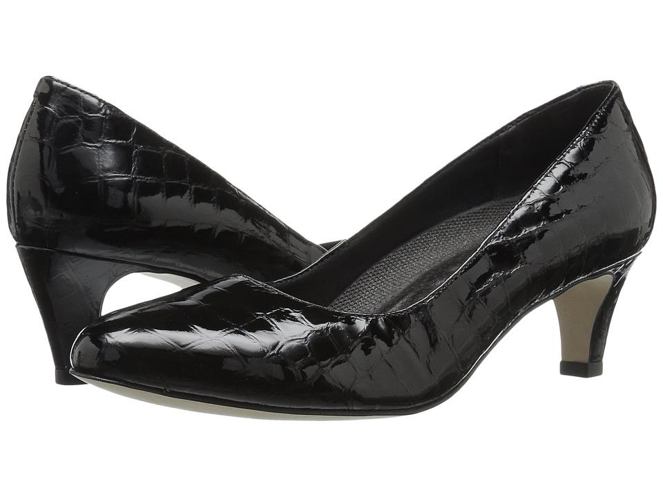 Walking Cradles Joy (Black Patent Crocco) Women's Shoes