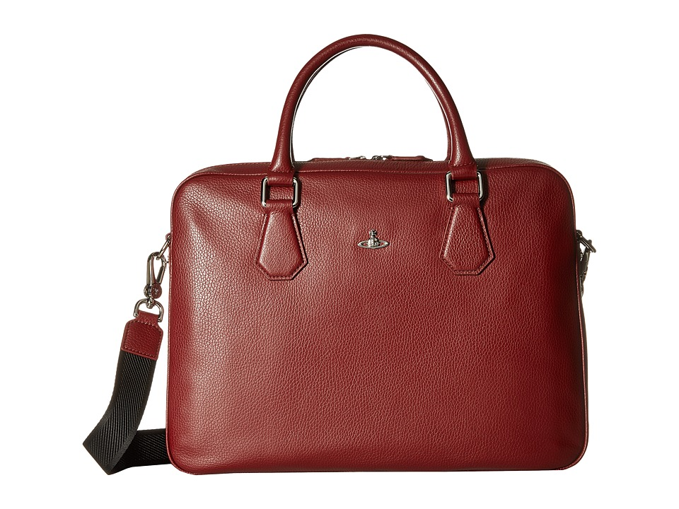 Vivienne Westwood - Milano Computer Briefcase (Bordeaux) Briefcase Bags