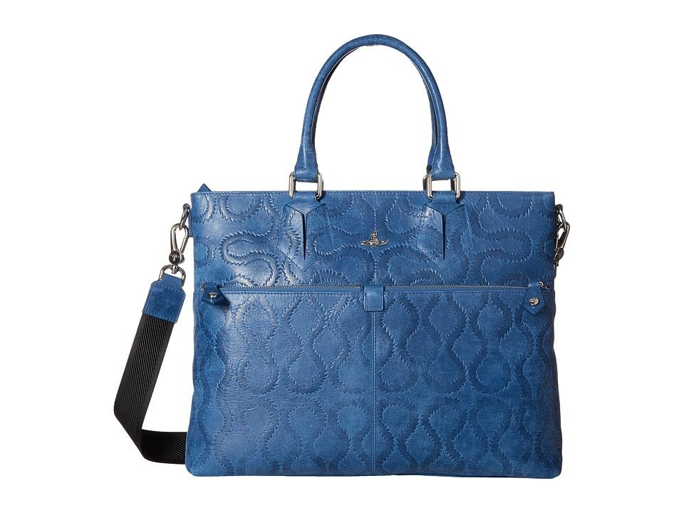 Vivienne Westwood - Belfast Briefcase (Blue) Briefcase Bags