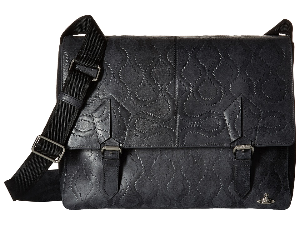 Vivienne Westwood - Belfast Messenger Bag (Black) Messenger Bags