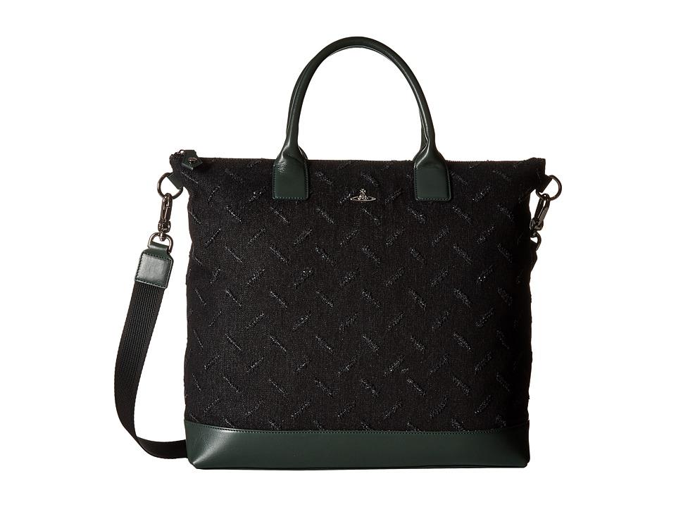 Vivienne Westwood - Man Cut and Slash Messenger Bag (Green) Messenger Bags
