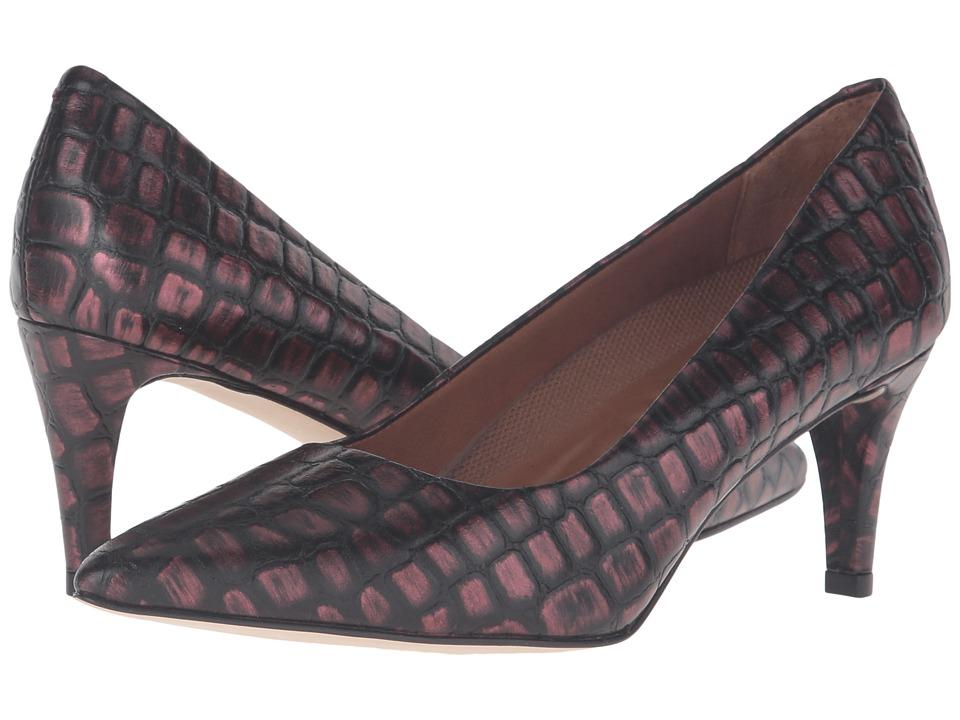 Walking Cradles - Sophia (Wine Brushed Crocco Print) High Heels