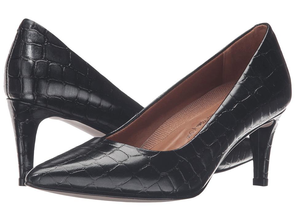 Walking Cradles - Sophia (Navy Brushed Crocco Print) High Heels