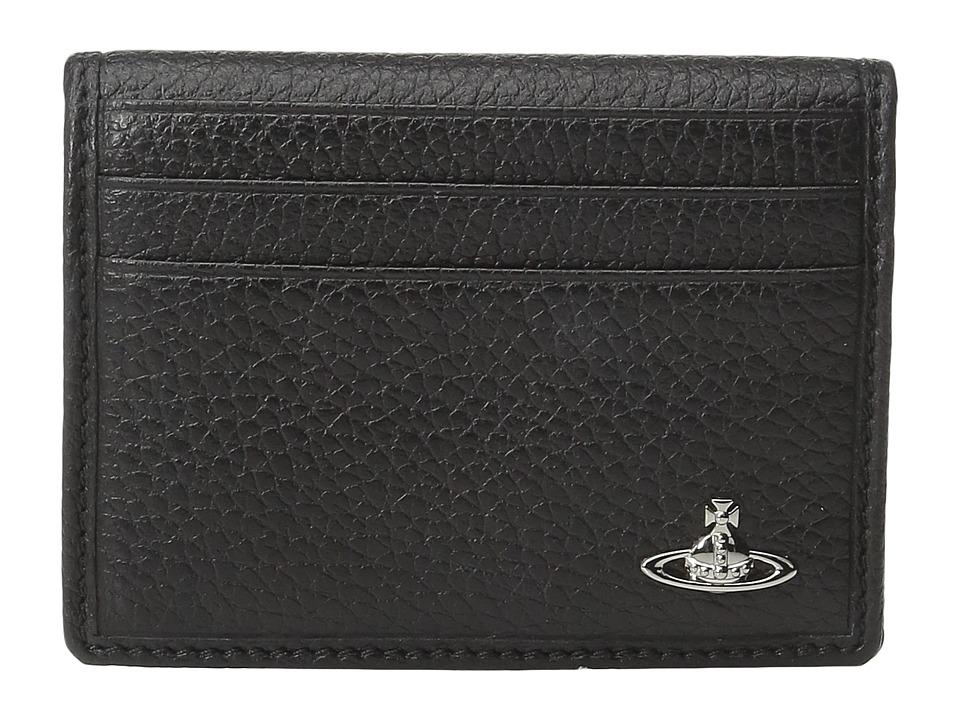 Vivienne Westwood - Milano Folding Card Holder (Black) Credit card Wallet