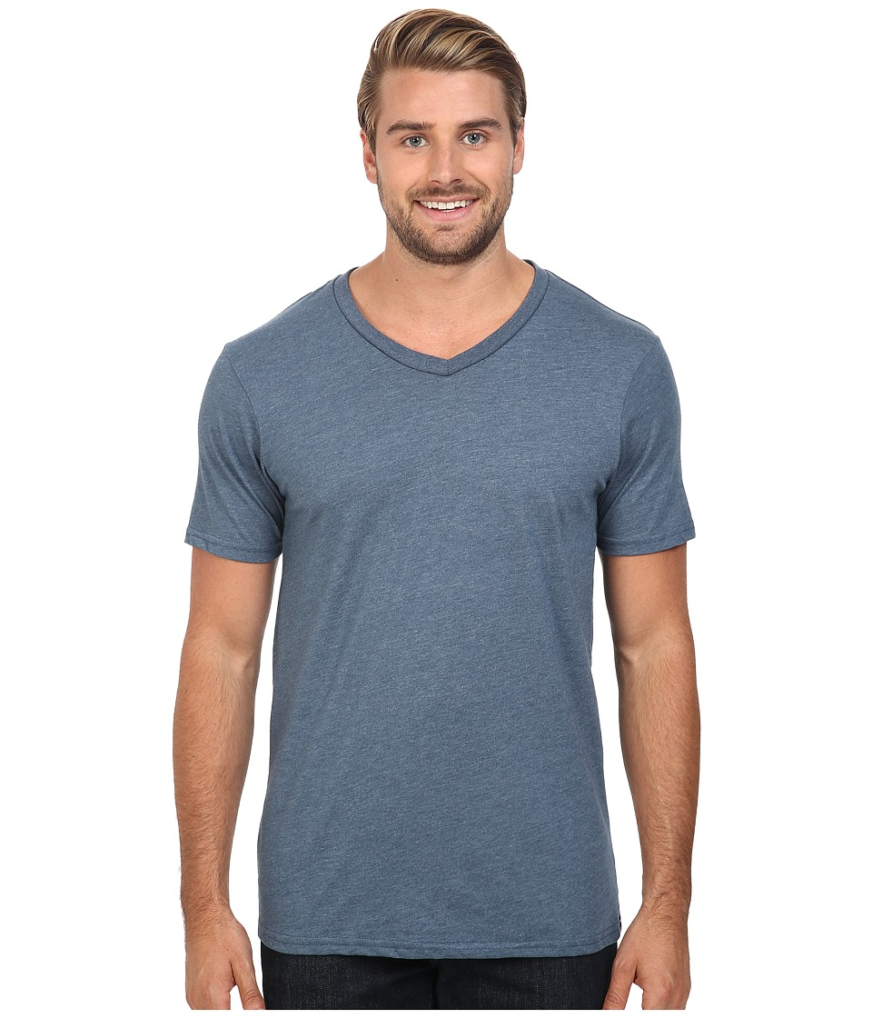 Volcom - Heather V-Neck Tee (Air Force Blue Heather) Men