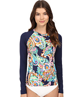 Tommy Bahama - Mare Paisley Long-Sleeve Rash Guard