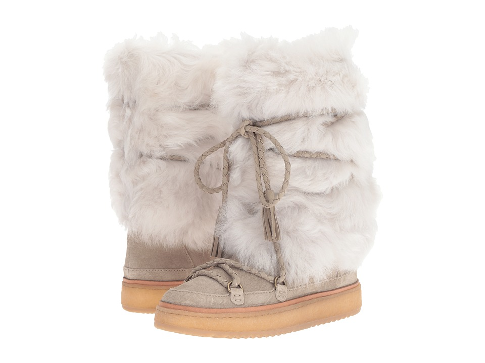 Frye Gail Shearling Tall (Cement Waterproof Oiled Suede/Shearling) Women