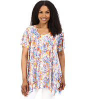 Nally & Millie - Plus Size Floral Sharkbite Tunic