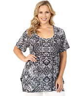 Nally & Millie - Plus Size Short Sleeve Tunic